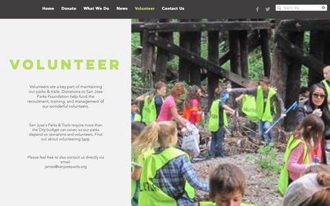Screenshot of Signup Page sanjoseparks.org - SJ Parks Foundation | Volunteer - captured Dec. 17, 2018