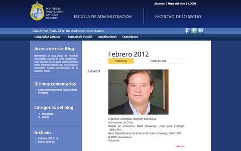 Screenshot of Blog academicsca.com - el Blog   Pontificia Universidad Católica de Chile - captured Oct. 4, 2014