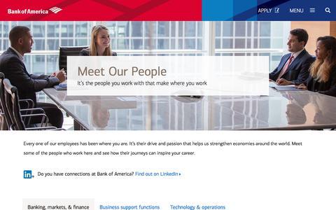 Screenshot of Team Page bankofamerica.com - The People of Bank of America - captured Dec. 5, 2017