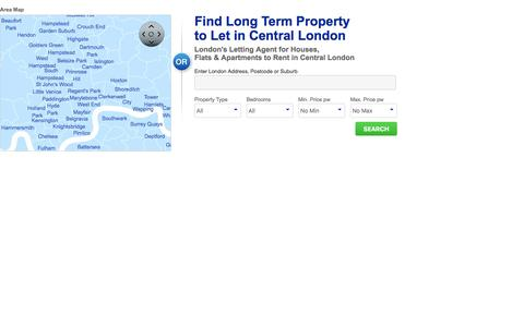 Screenshot of Maps & Directions Page brlets.co.uk - Area Search for Rental Properties - B & R Lettings - captured Feb. 7, 2016