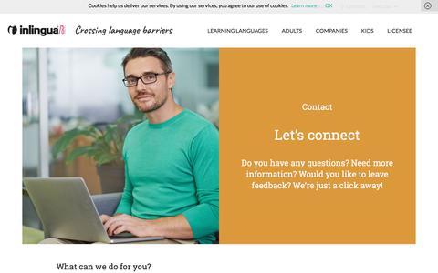 Screenshot of Contact Page inlingua.com - Contact us – inlingua - captured Sept. 19, 2018