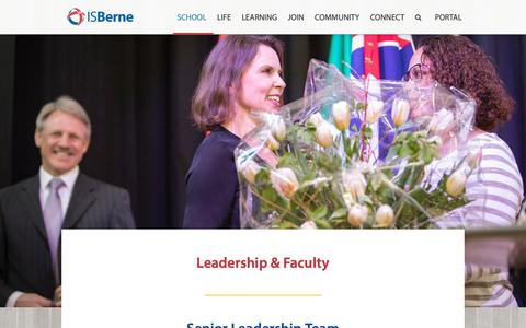 Screenshot of Team Page isberne.ch - International School of Berne (ISBerne) Switzerland - an IB World School for boys and girls aged 3 to 18 years | Leadership at ISBerne - captured Dec. 19, 2018