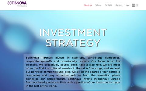 Screenshot of About Page sofinnova.fr - About us | Sofinnova - captured Sept. 16, 2014