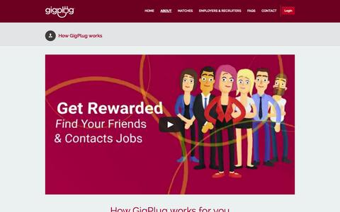 Screenshot of About Page gigplug.com - How GigPlug works |  GigPlug - captured Sept. 29, 2014