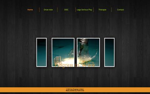 Screenshot of Home Page progressinwork.be - Progress in Work - captured Sept. 30, 2014