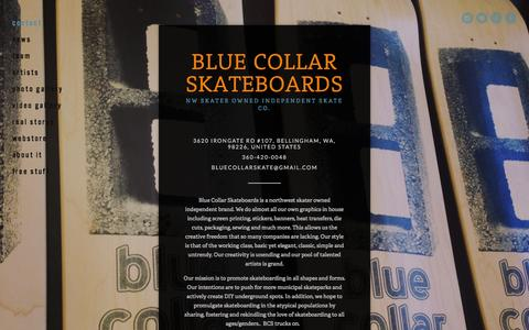 Screenshot of Contact Page bluecollarskateboards.com - contact — Blue Collar Skateboards - captured Oct. 29, 2014