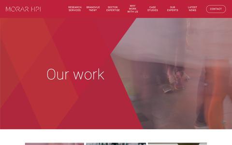 Screenshot of Case Studies Page morarhpi.com - Our Work | Insight for Growing Brands | Morar HPI - captured July 11, 2018