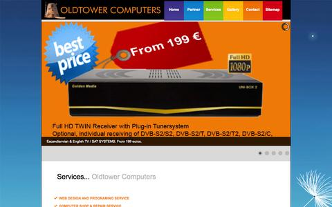 Screenshot of Services Page oldtower.es - ...::: Oldtower Computers :::... Services - captured Oct. 26, 2014