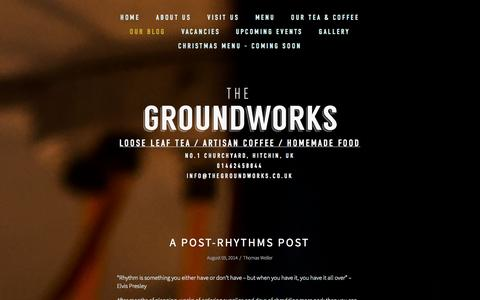 Screenshot of Blog thegroundworks.co.uk - Our Blog — THE GROUNDWORKS - captured Sept. 30, 2014