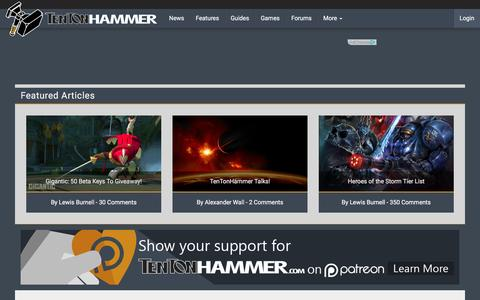Screenshot of Contact Page tentonhammer.com - Contact Us | Ten Ton Hammer - captured Dec. 5, 2015