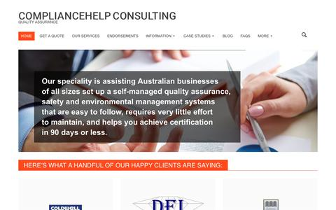 Screenshot of Home Page quality-assurance.com.au - ISO quality systems & quality assurance | Compliance Help Consulting - captured Aug. 16, 2017