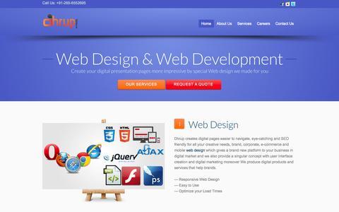 Screenshot of Home Page Blog dhrup.com - Custom Web Design Web Development | Enterprise Solutions - captured Oct. 5, 2014