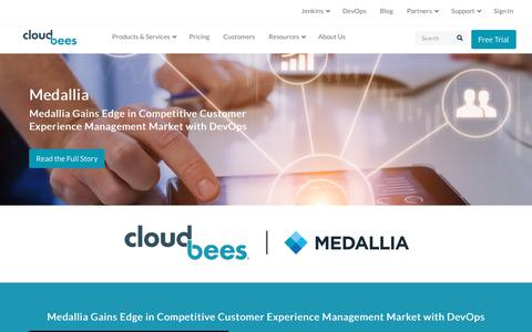 Screenshot of Case Studies Page cloudbees.com - Medallia Gains Edge in Competitive Customer Experience Management Market with DevOps | CloudBees - captured Aug. 8, 2018