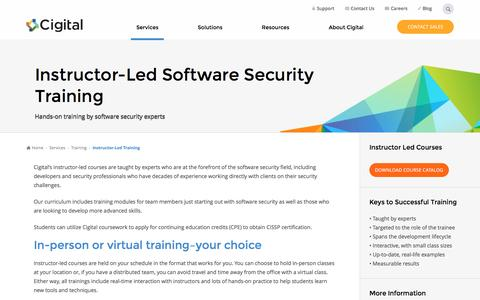 Instructor-Led Software Security Training Courses | Cigital