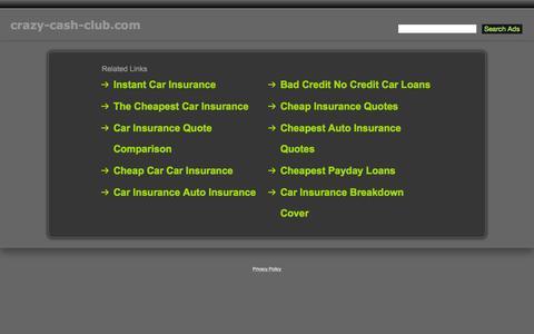 Screenshot of Home Page crazy-cash-club.com - Crazy-Cash-Club.com - captured Nov. 11, 2015