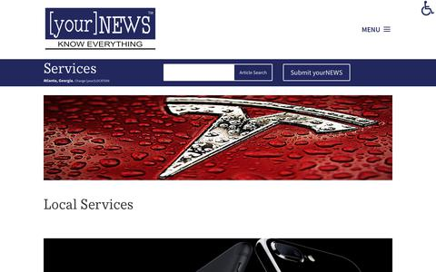Screenshot of Services Page yournews.com - Services - [your]NEWS - captured Oct. 7, 2017