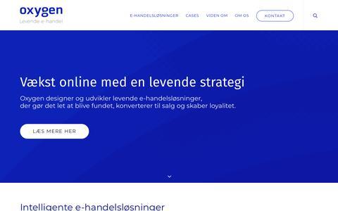 Screenshot of Home Page oxygen.dk - Oxygen A/S → Digitalt bureau med fokus på jeres succes online - captured Nov. 13, 2017