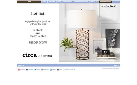 Simply Brilliant Home Lighting Lamps, Accessories & Visual Comfort at Circalighting.com