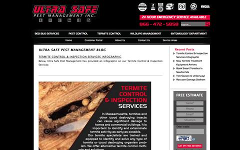 Screenshot of Blog ultrasafepest.com - Ultra Safe Pest Management Blog - Ultra Safe Pest Management - captured Oct. 9, 2014