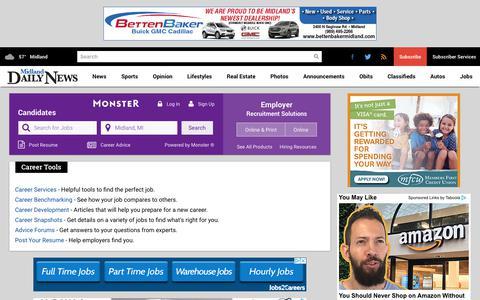 Screenshot of Jobs Page ourmidland.com - Jobs - Midland Daily News - captured Sept. 22, 2018