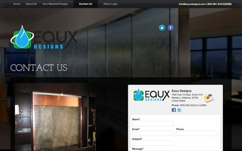 Screenshot of Contact Page eauxdesigns.com - Contact Us | Eaux Designs - captured Oct. 1, 2014