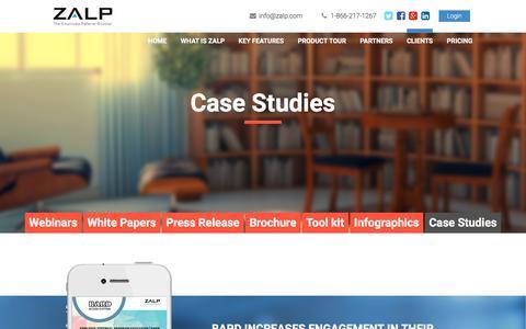 Screenshot of Case Studies Page zalp.com - zalp | Case Studies - captured Dec. 4, 2015