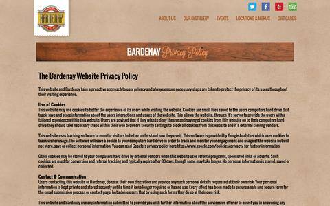 Screenshot of Privacy Page bardenay.com - Privacy Policy | Bardenay - captured Dec. 9, 2018