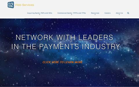 Screenshot of Home Page g2webservices.com - Merchant Risk Intelligence Solutions | G2 Web Services - captured Dec. 1, 2015