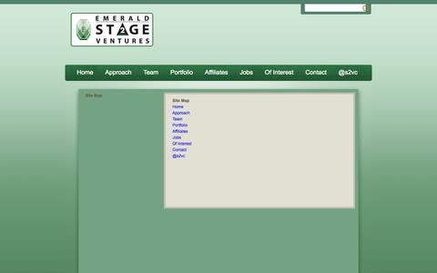 Screenshot of Site Map Page publishpath.com - Site Map | Emerald Stage2 Ventures - captured Sept. 17, 2014