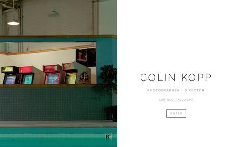 Screenshot of Home Page colinkopp.com - COLIN KOPP - captured Nov. 9, 2016