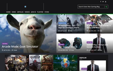 Screenshot of Blog greenmangaming.com - Green Man Gaming Blog - captured July 3, 2016