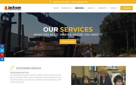 Screenshot of Services Page jacksonlumber.com - Our Services | Jackson Lumber & Millwork - captured Dec. 14, 2019