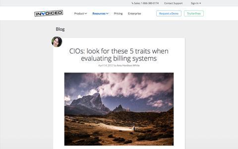 Screenshot of Blog invoiced.com - Invoiced   Invoiced Blog - captured April 17, 2017
