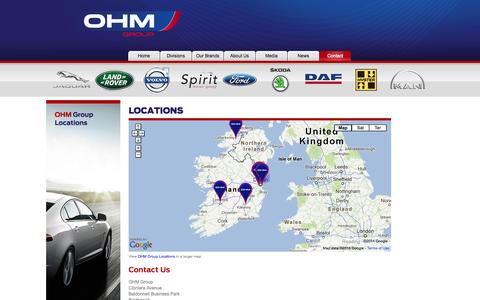Screenshot of Locations Page ohm.ie - Locations |  Contact | OHM Group - captured Oct. 9, 2014