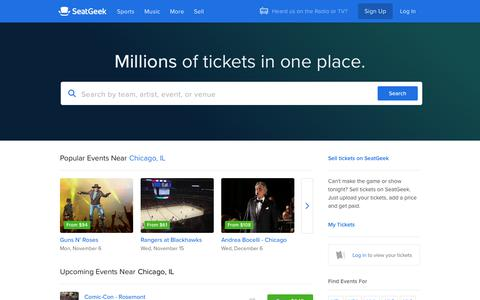 SeatGeek | Your Ticket to Sports, Concerts & More