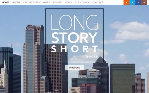 Screenshot of Home Page lssmedia.com - Long Story Short Media - Long Story Short Media Home - Long Story Short Media - captured Dec. 28, 2015