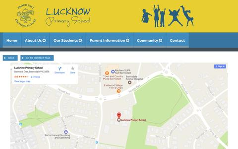 Screenshot of Maps & Directions Page lucknow-ps.vic.edu.au - Map | Lucknow Primary School - captured April 24, 2017