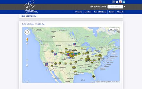 Screenshot of Locations Page bosselman.com - Locations Map | Bosselman Companies - captured Oct. 5, 2014