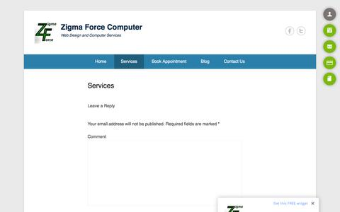 Screenshot of Services Page onlysolarenergy.com - Services - Zigma Force Computer - captured Feb. 27, 2016