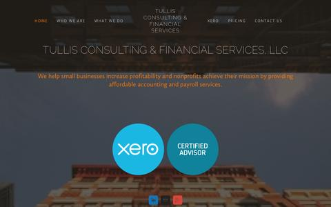 Screenshot of Home Page tullisconsulting.com - Tullis Consulting & Financial Services - captured Oct. 7, 2014
