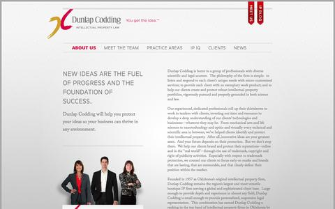 Screenshot of About Page dunlapcodding.com - About Us | Dunlap Codding - captured Oct. 5, 2014
