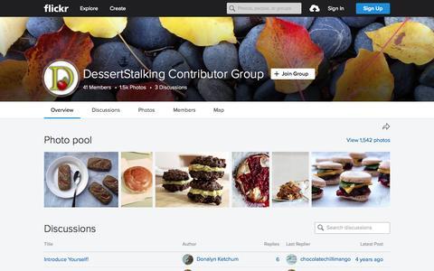 Screenshot of Flickr Page flickr.com - DessertStalking Contributor Group | Flickr - Photo Sharing! - captured Oct. 2, 2015