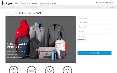 Group Sales Program                      – Cotopaxi
