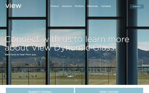 Screenshot of Contact Page viewglass.com - Contact View Dynamic Glass - captured Sept. 22, 2018