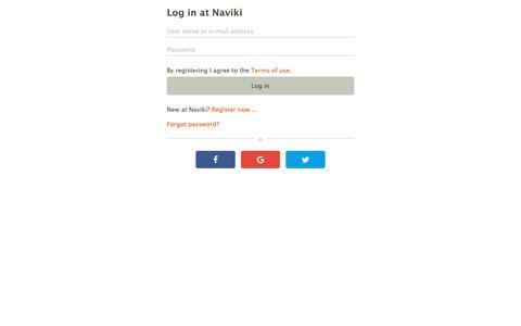 Screenshot of Login Page naviki.org - Log in at Naviki - captured Oct. 21, 2018