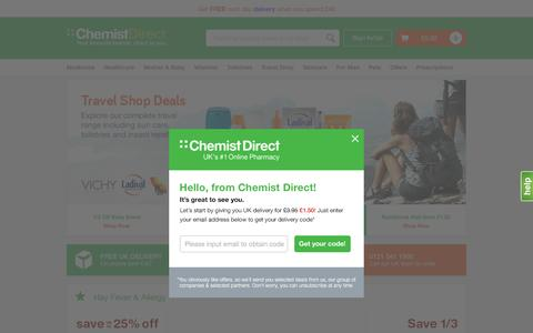 Screenshot of Home Page chemistdirect.co.uk - Chemist Direct   Health, Pharmacy, Beauty and Prescription products - captured May 8, 2017