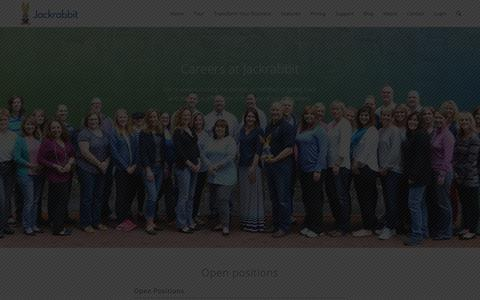 Screenshot of Jobs Page jackrabbitclass.com - Careers - Jackrabbit Class - captured Jan. 19, 2018