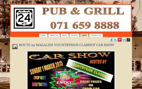Screenshot of Press Page route24pub.co.za - NEWS | ROUTE 24 PUB & GRILL - MAGALIESBURG - captured Feb. 18, 2016