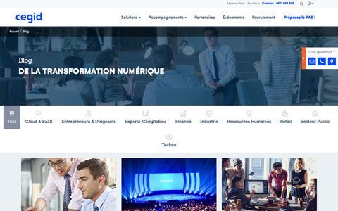 Screenshot of Blog cegid.com - Le blog de la transformation numérique - Cegid Group - captured July 29, 2018