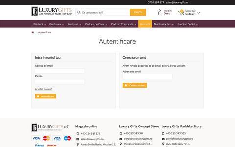 Screenshot of Login Page luxurygifts.ro - Login - LuxuryGifts.ro - captured July 24, 2018